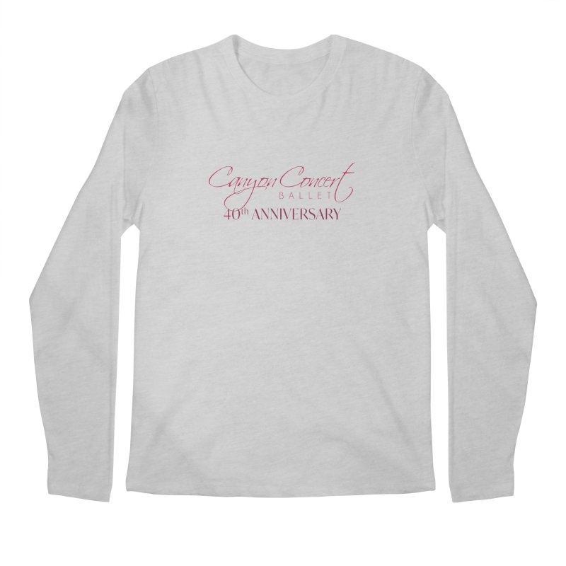 40th Anniversary Men's Regular Longsleeve T-Shirt by Canyon Concert Ballet's Artist Shop