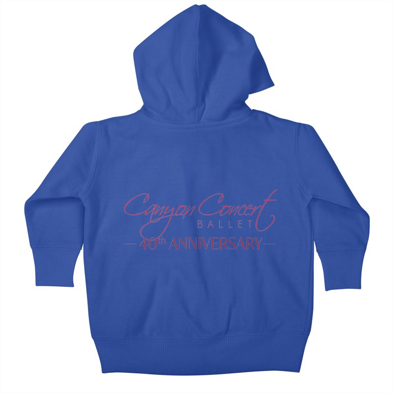 40th Anniversary Kids Baby Zip-Up Hoody by Canyon Concert Ballet's Artist Shop