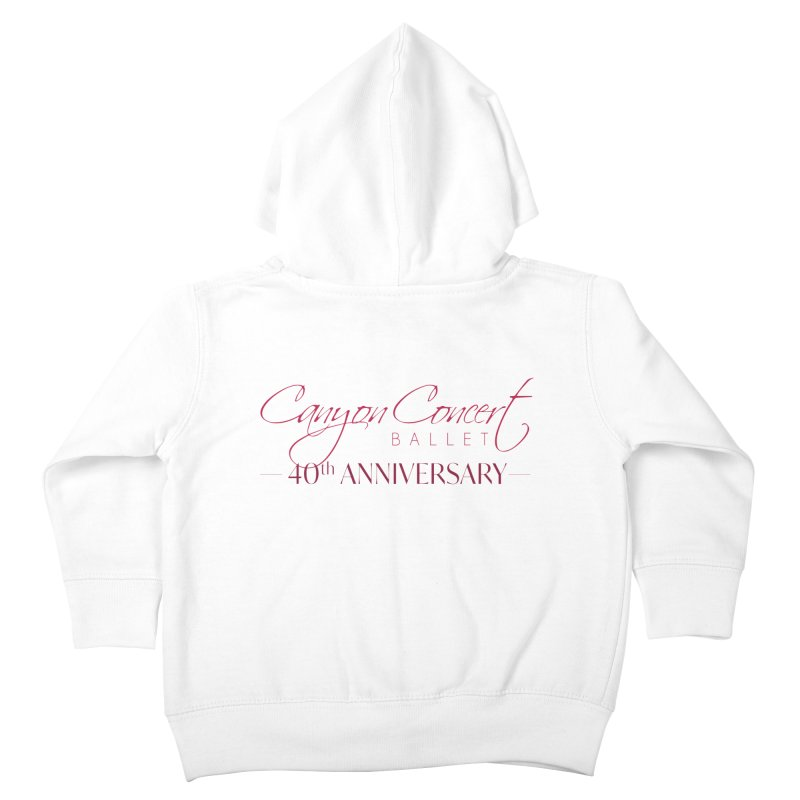 40th Anniversary Kids Toddler Zip-Up Hoody by Canyon Concert Ballet's Artist Shop