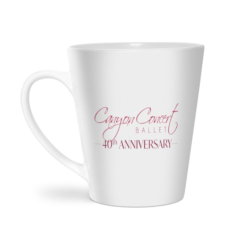 40th Anniversary Accessories Latte Mug by Canyon Concert Ballet's Artist Shop