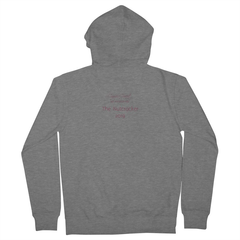 Nutcracker 2019 Men's French Terry Zip-Up Hoody by Canyon Concert Ballet's Artist Shop