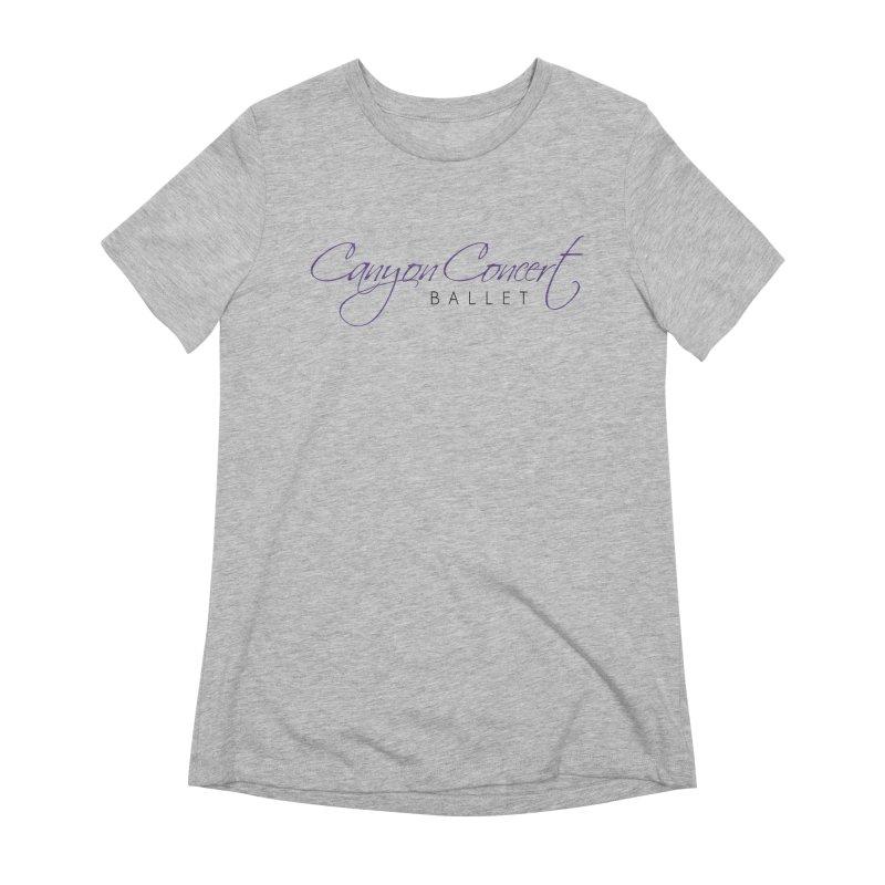 CCB Main Logo Women's Extra Soft T-Shirt by Canyon Concert Ballet's Artist Shop