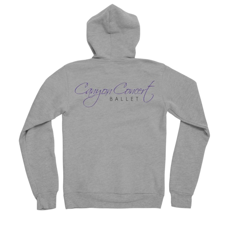 CCB Main Logo Women's Sponge Fleece Zip-Up Hoody by Canyon Concert Ballet's Artist Shop
