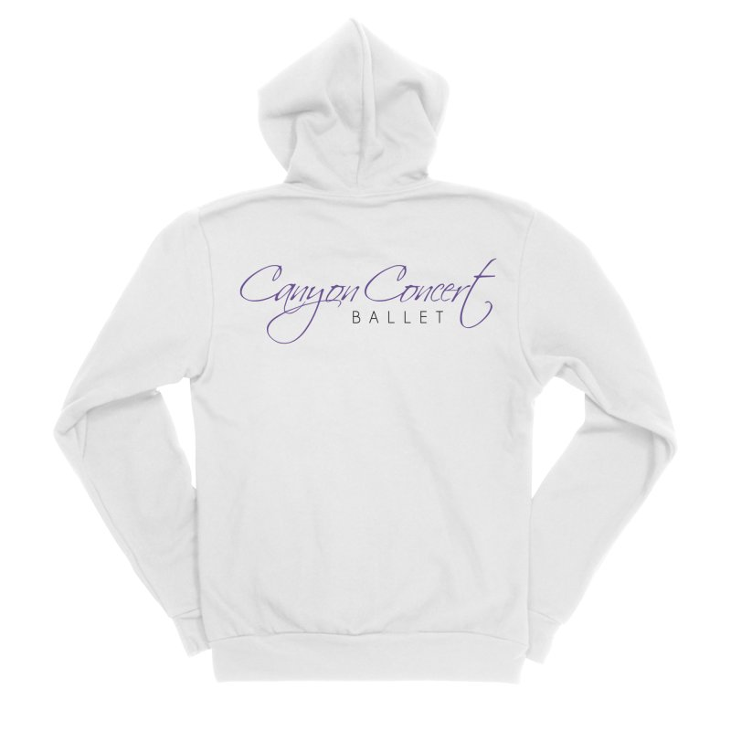CCB Main Logo Men's Sponge Fleece Zip-Up Hoody by Canyon Concert Ballet's Artist Shop