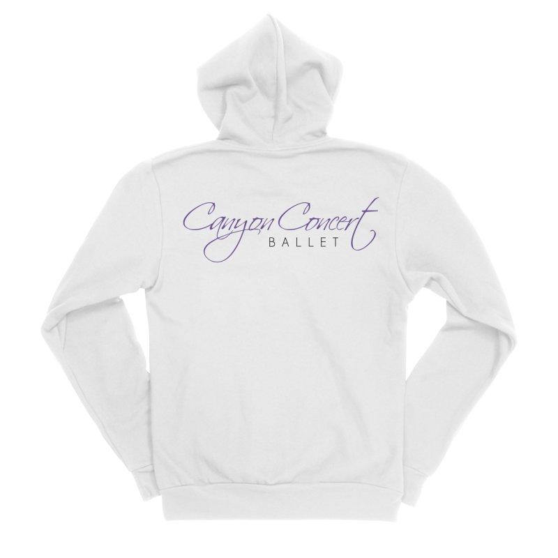 CCB Main Logo Men's Zip-Up Hoody by Canyon Concert Ballet's Artist Shop