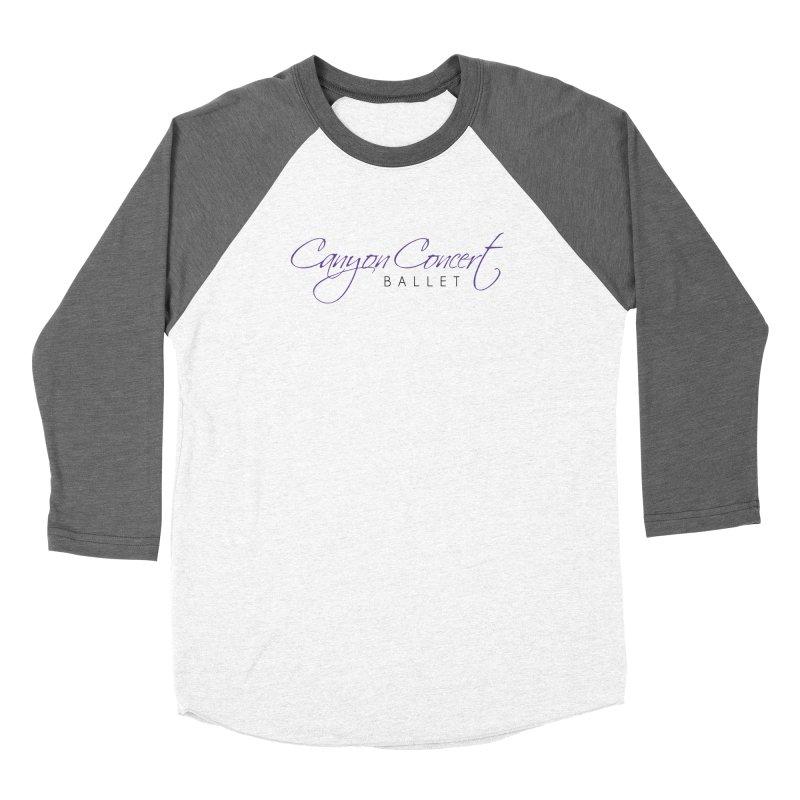 CCB Main Logo Men's Baseball Triblend Longsleeve T-Shirt by Canyon Concert Ballet's Artist Shop