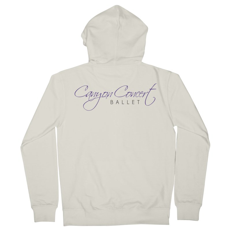 CCB Main Logo Women's French Terry Zip-Up Hoody by CanyonConcertBallet's Artist Shop