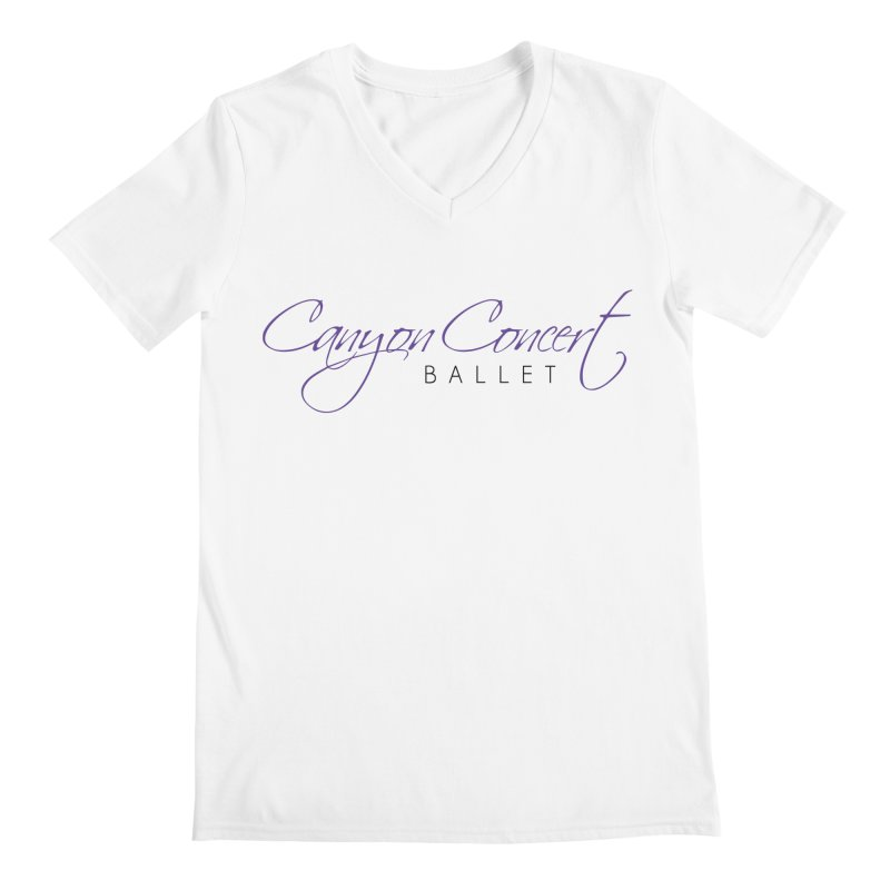 CCB Main Logo Men's Regular V-Neck by Canyon Concert Ballet's Artist Shop