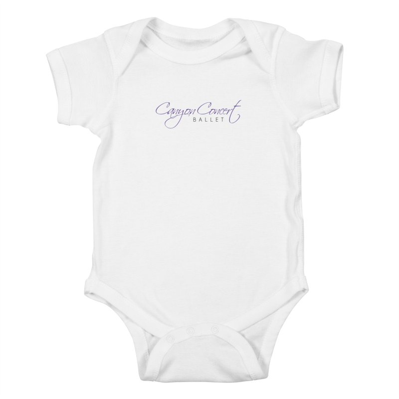 CCB Main Logo Kids Baby Bodysuit by Canyon Concert Ballet's Artist Shop