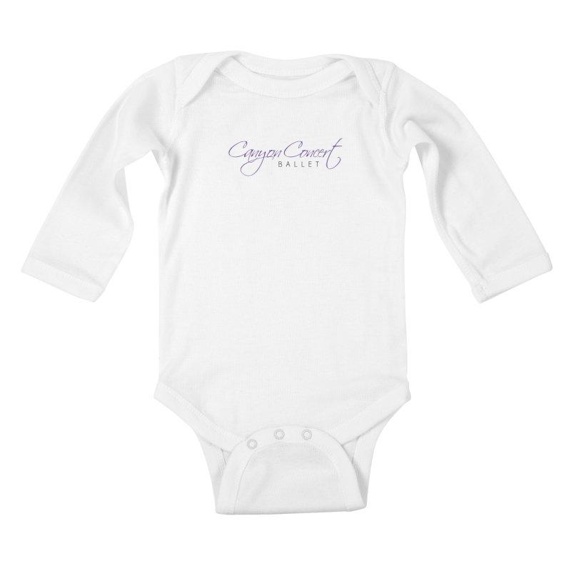 CCB Main Logo Kids Baby Longsleeve Bodysuit by CanyonConcertBallet's Artist Shop