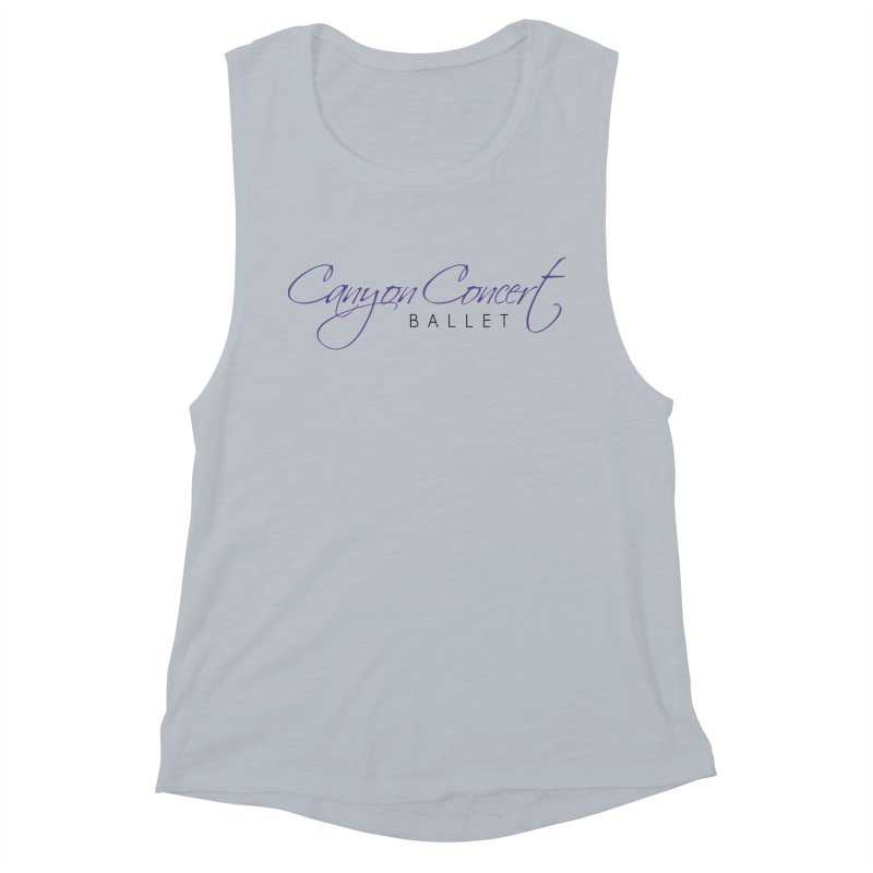 CCB Main Logo Women's Muscle Tank by Canyon Concert Ballet's Artist Shop