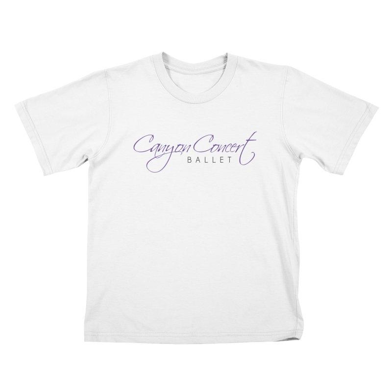 CCB Main Logo Kids T-Shirt by Canyon Concert Ballet's Artist Shop