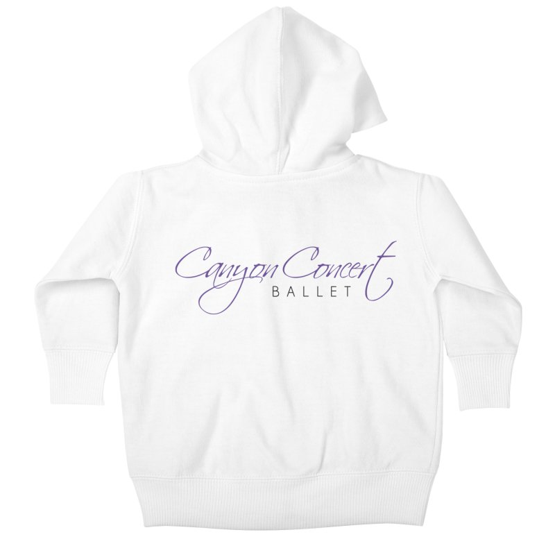 CCB Main Logo Kids Baby Zip-Up Hoody by Canyon Concert Ballet's Artist Shop