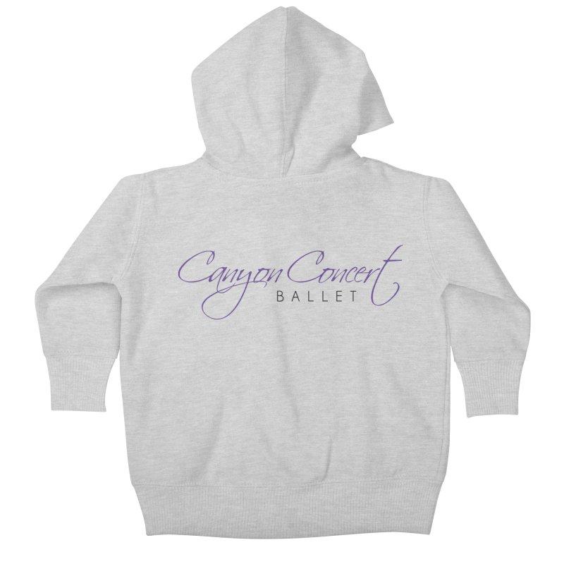 CCB Main Logo Kids Baby Zip-Up Hoody by Canyon Concert Ballet's Artist Shop