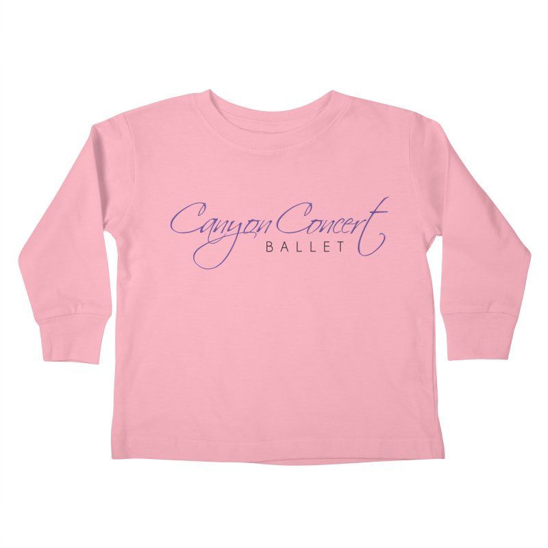 CCB Main Logo Kids Toddler Longsleeve T-Shirt by Canyon Concert Ballet's Artist Shop