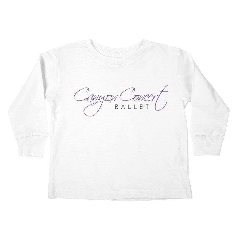 CCB Main Logo Kids Toddler Longsleeve T-Shirt by CanyonConcertBallet's Artist Shop