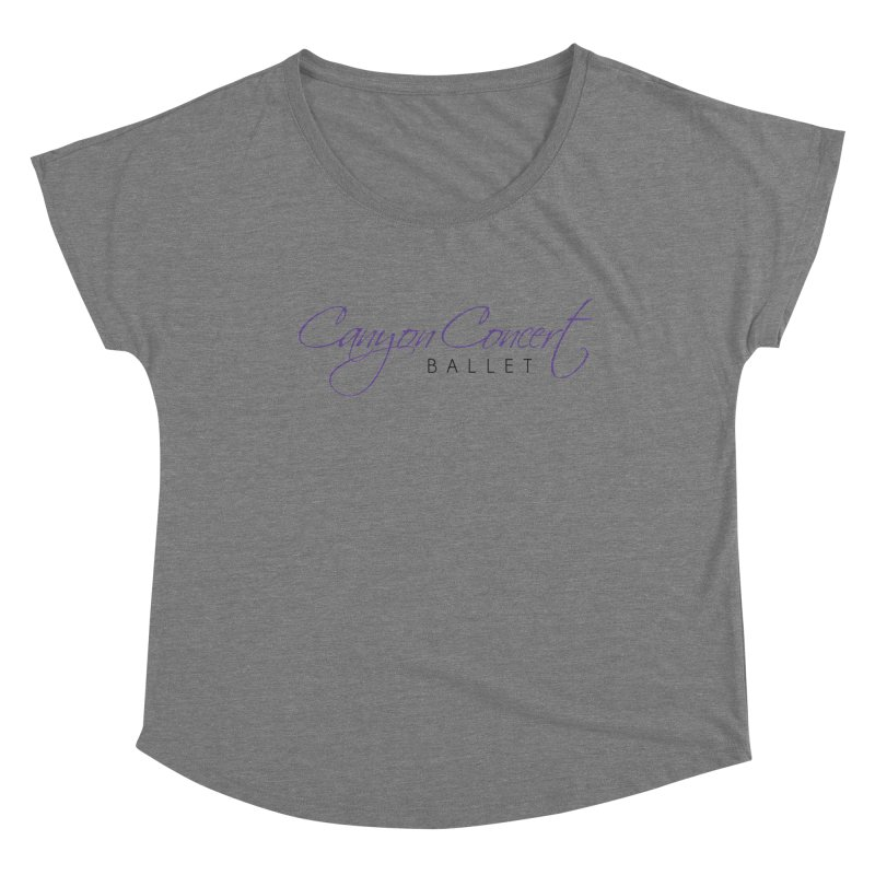 CCB Main Logo Women's Scoop Neck by Canyon Concert Ballet's Artist Shop