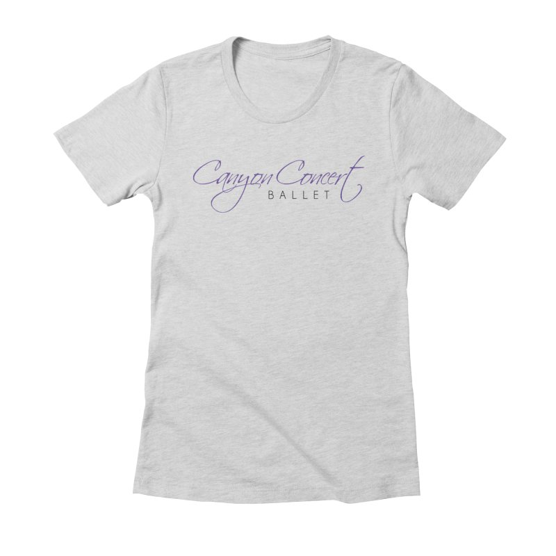 CCB Main Logo Women's Fitted T-Shirt by Canyon Concert Ballet's Artist Shop