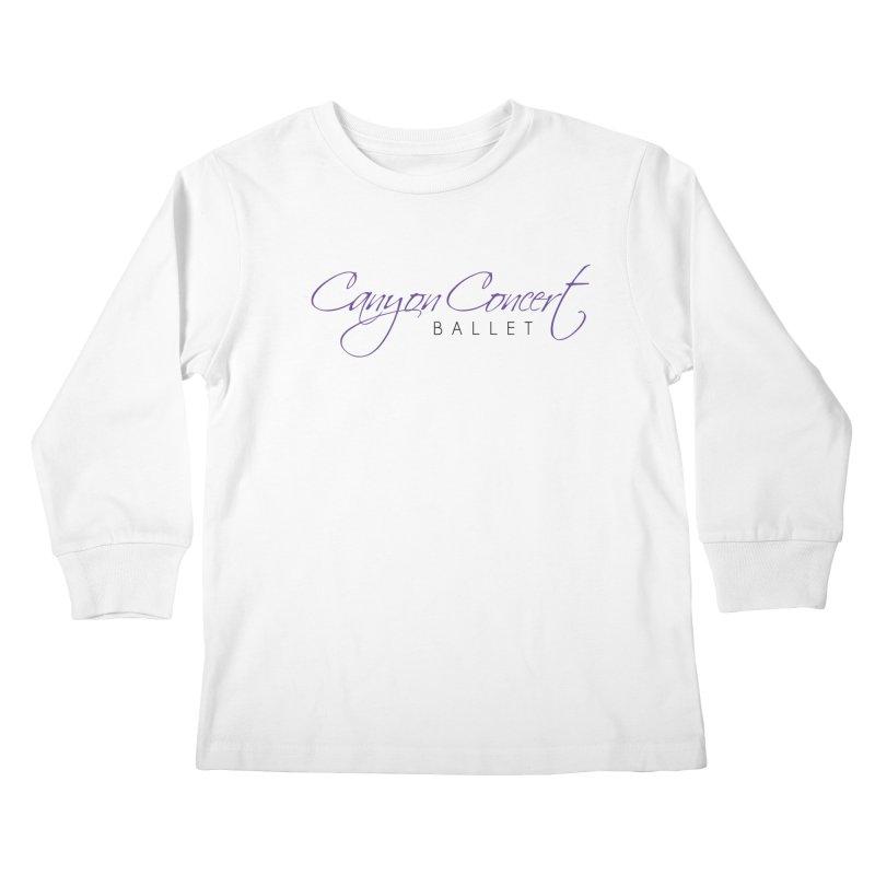CCB Main Logo Kids Longsleeve T-Shirt by CanyonConcertBallet's Artist Shop