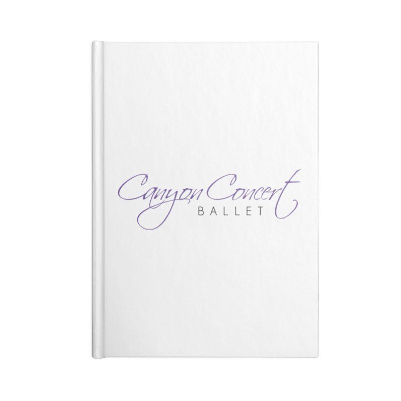 CCB Main Logo Accessories Lined Journal Notebook by Canyon Concert Ballet's Artist Shop