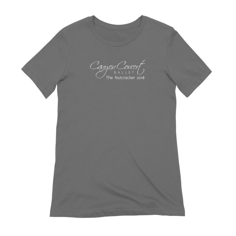 Nutcracker 2018 - White Logo Women's Extra Soft T-Shirt by Canyon Concert Ballet's Artist Shop