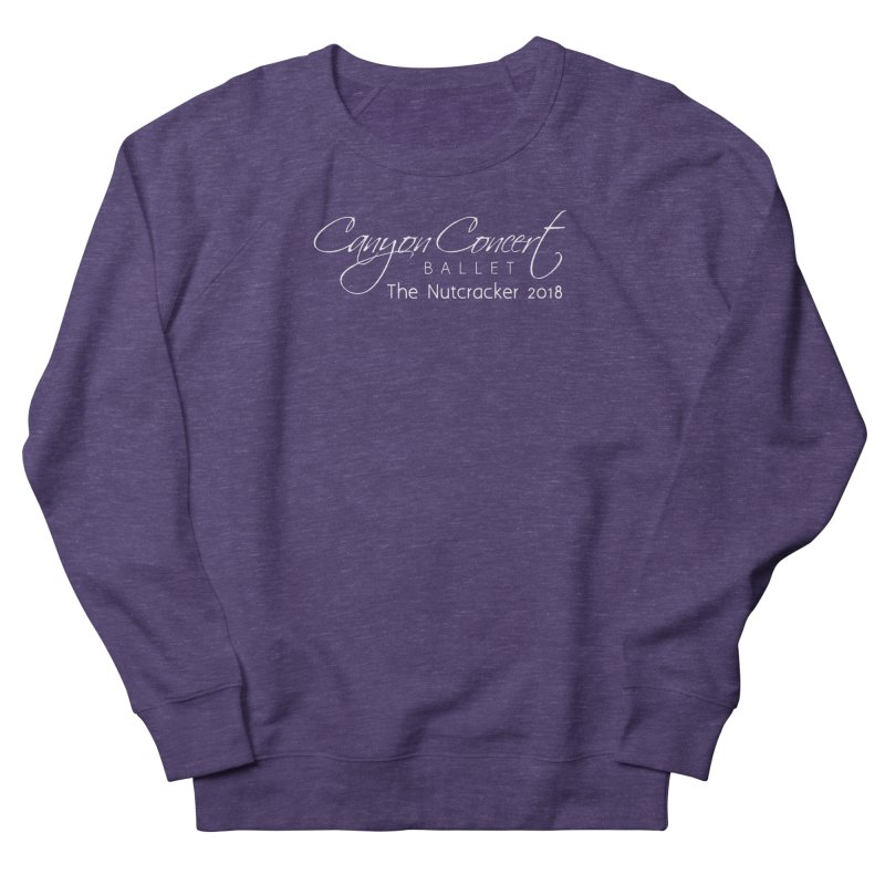 Nutcracker 2018 - White Logo Men's French Terry Sweatshirt by CanyonConcertBallet's Artist Shop