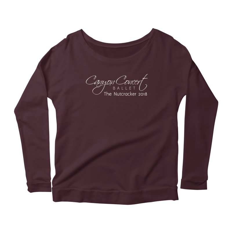 Nutcracker 2018 - White Logo Women's Scoop Neck Longsleeve T-Shirt by Canyon Concert Ballet's Artist Shop