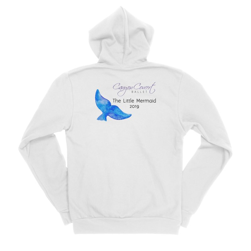 The Little Mermaid Men's Sponge Fleece Zip-Up Hoody by Canyon Concert Ballet's Artist Shop
