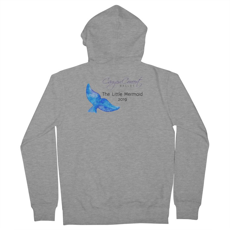 The Little Mermaid Women's French Terry Zip-Up Hoody by Canyon Concert Ballet's Artist Shop