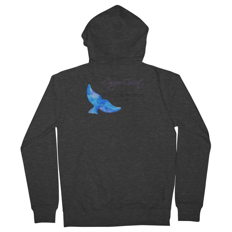 The Little Mermaid Men's French Terry Zip-Up Hoody by Canyon Concert Ballet's Artist Shop