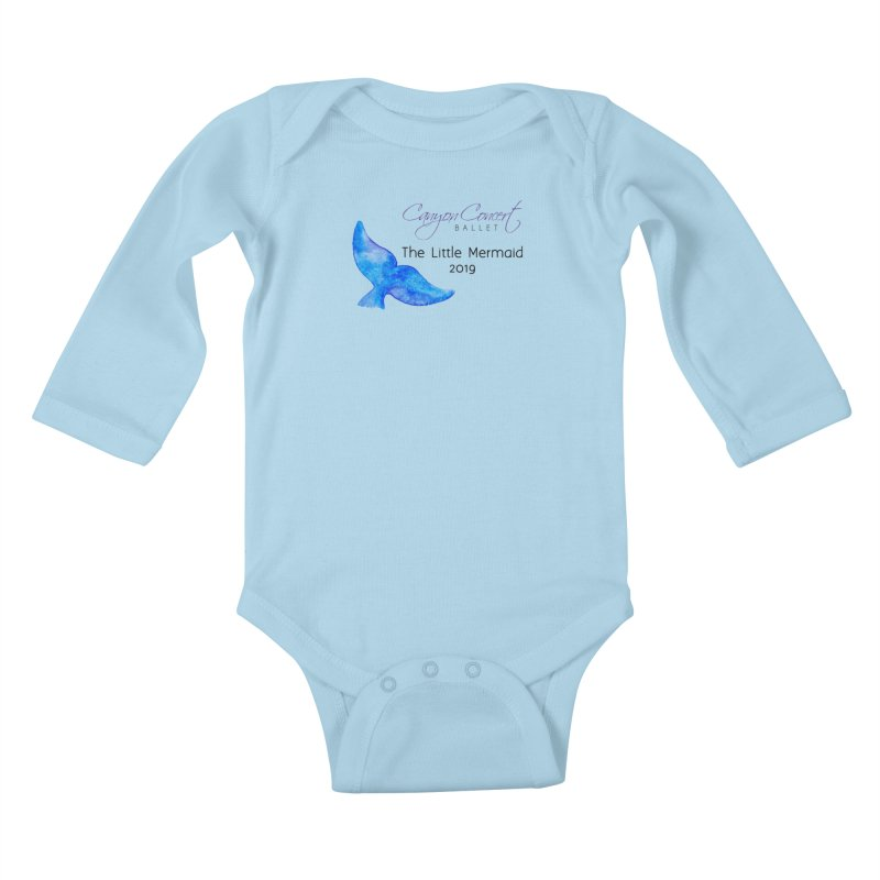 The Little Mermaid Kids Baby Longsleeve Bodysuit by Canyon Concert Ballet's Artist Shop