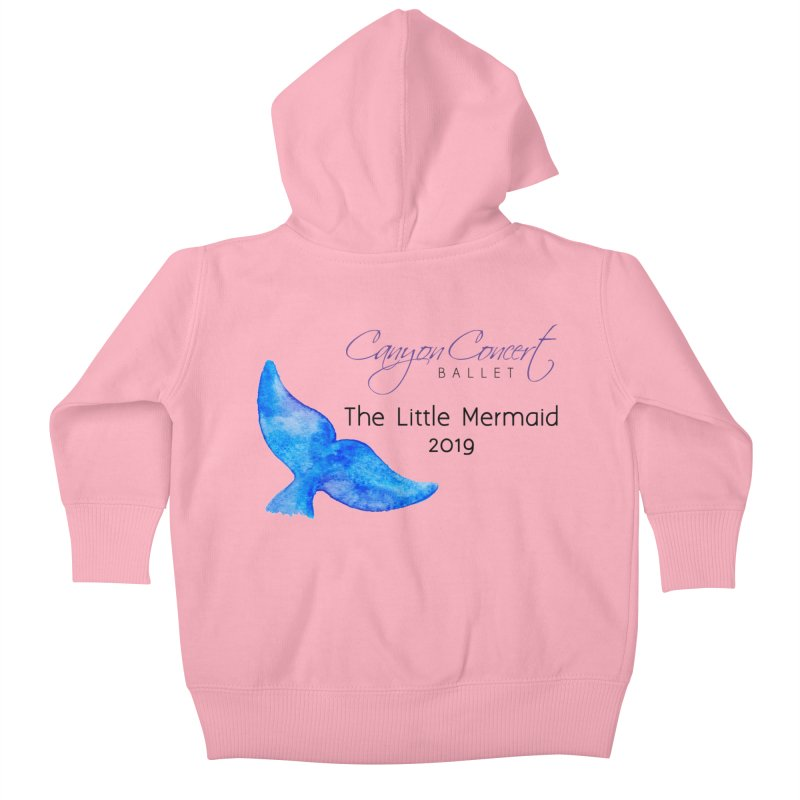 The Little Mermaid Kids Baby Zip-Up Hoody by Canyon Concert Ballet's Artist Shop
