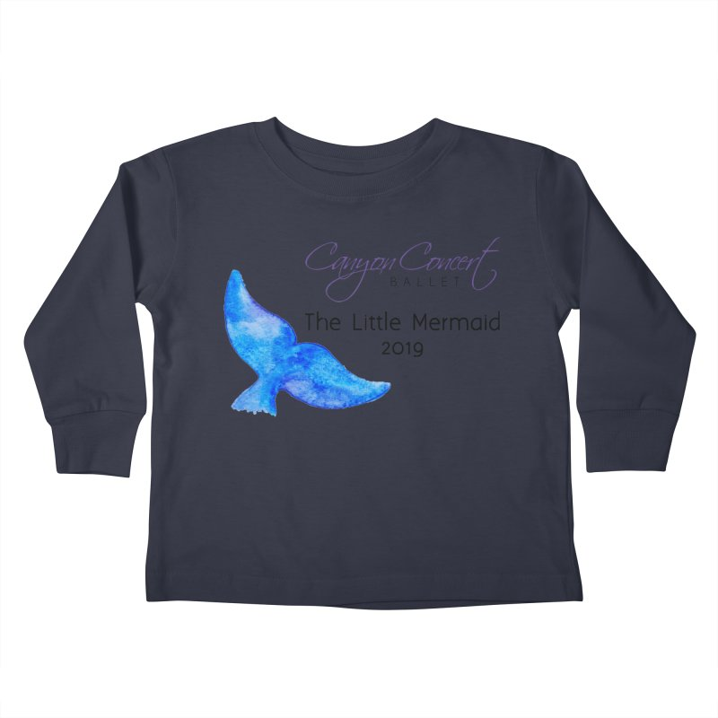 The Little Mermaid Kids Toddler Longsleeve T-Shirt by Canyon Concert Ballet's Artist Shop