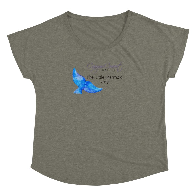 The Little Mermaid Women's Dolman Scoop Neck by Canyon Concert Ballet's Artist Shop