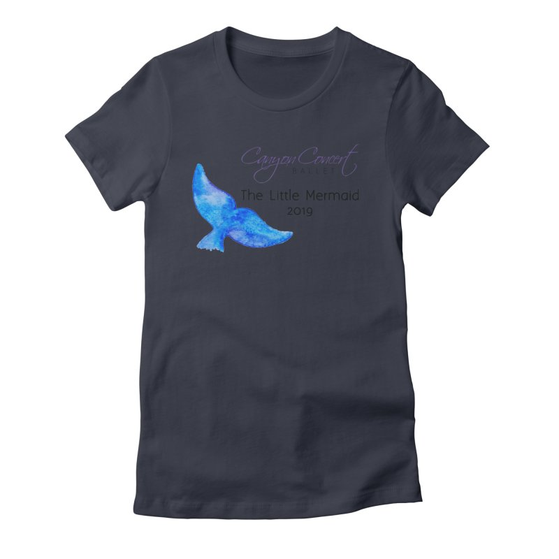 The Little Mermaid Women's Fitted T-Shirt by Canyon Concert Ballet's Artist Shop