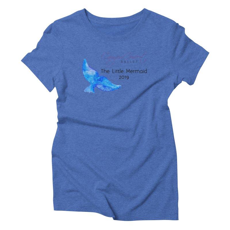 The Little Mermaid Women's Triblend T-Shirt by Canyon Concert Ballet's Artist Shop