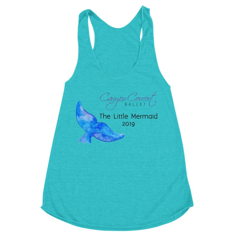 The Little Mermaid Women's Racerback Triblend Tank by Canyon Concert Ballet's Artist Shop