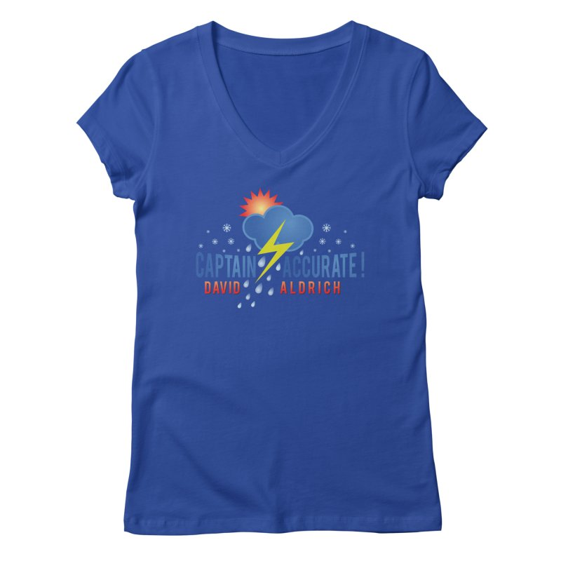 Captain Accurate Women's Regular V-Neck by Captain Accurate's Artist Shop