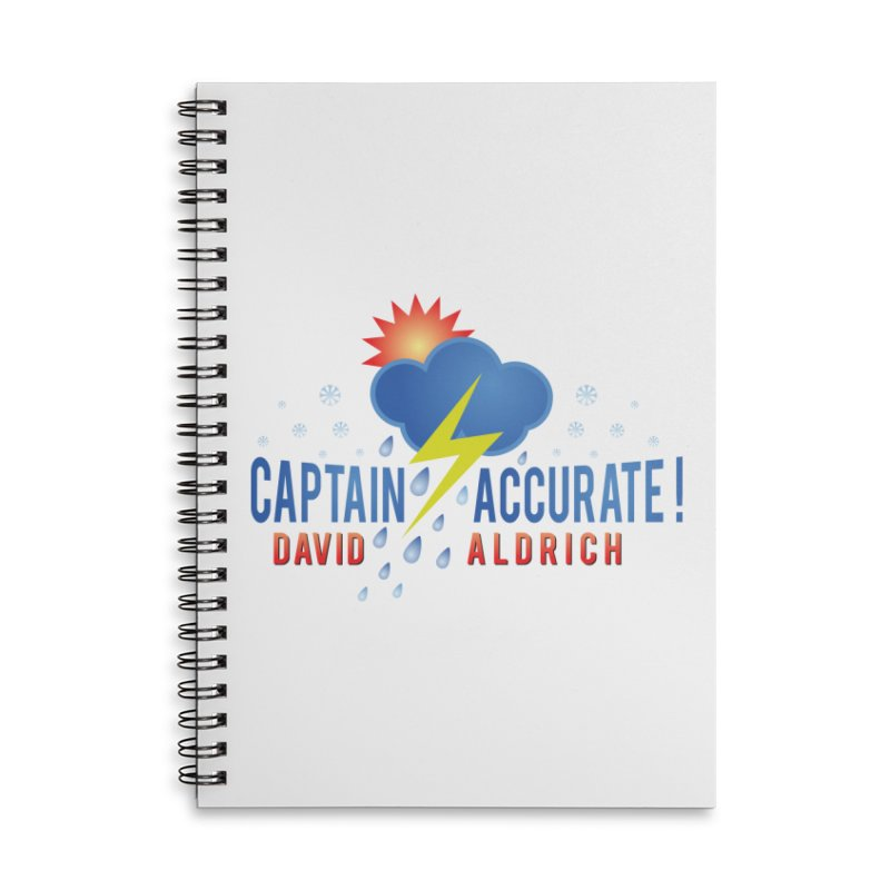 Captain Accurate Accessories Lined Spiral Notebook by Captain Accurate's Artist Shop