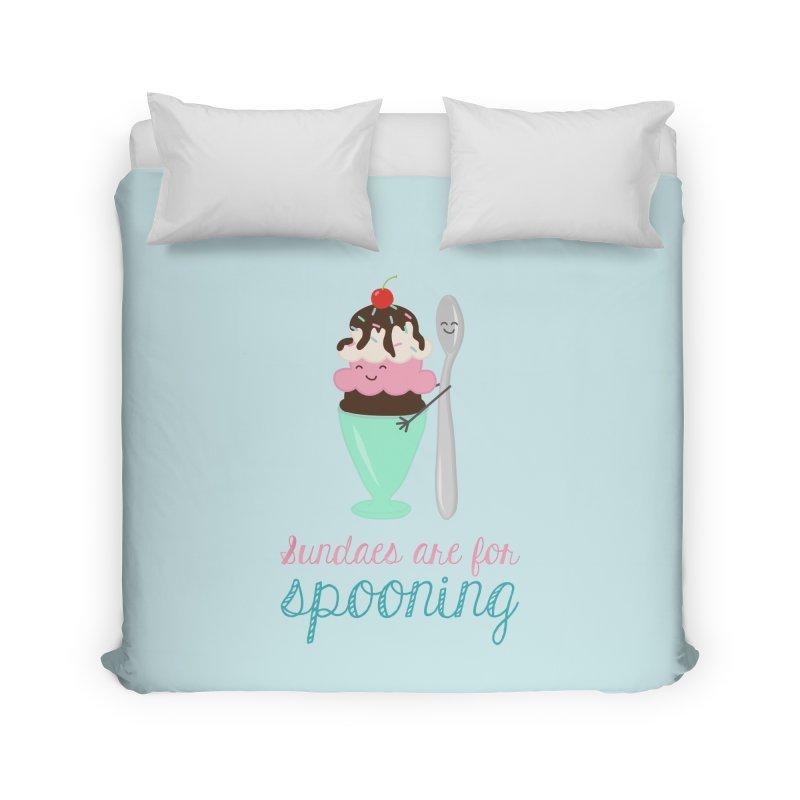 Sundaes are for Spooning Home Duvet by CardyHarHar's Artist Shop