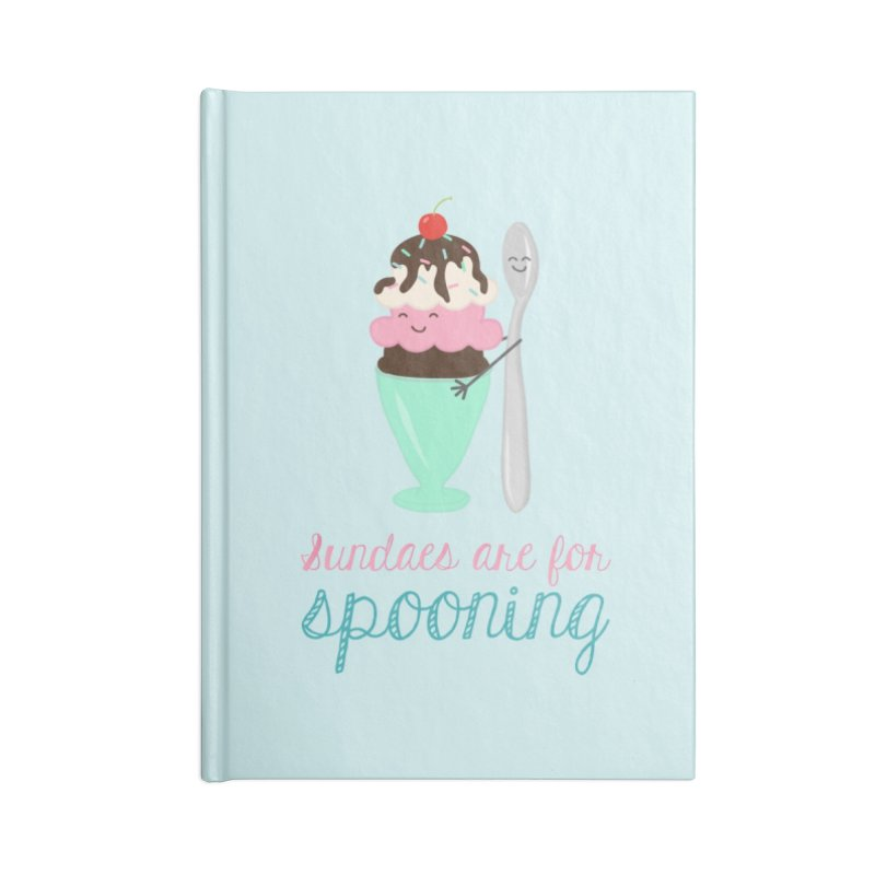 Sundaes are for Spooning Accessories Notebook by CardyHarHar's Artist Shop