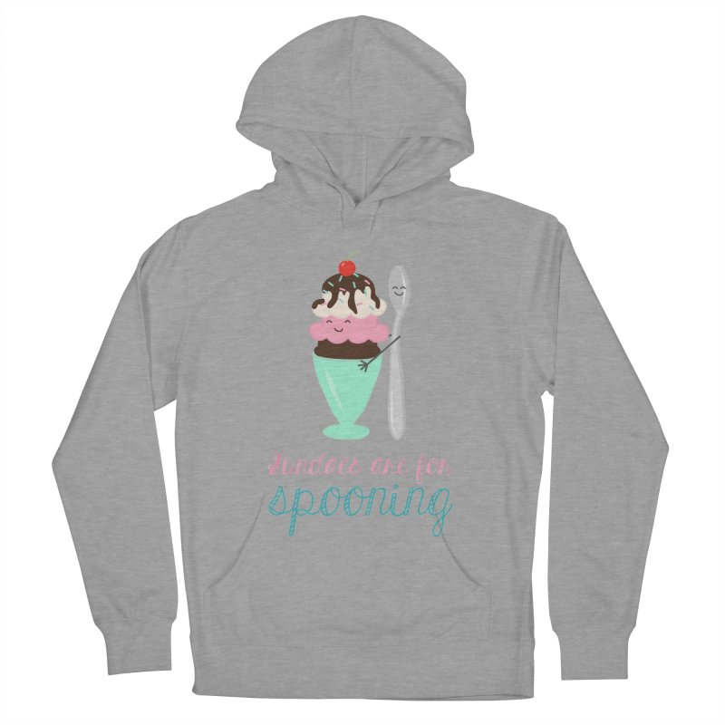 Sundaes are for Spooning Women's French Terry Pullover Hoody by CardyHarHar's Artist Shop