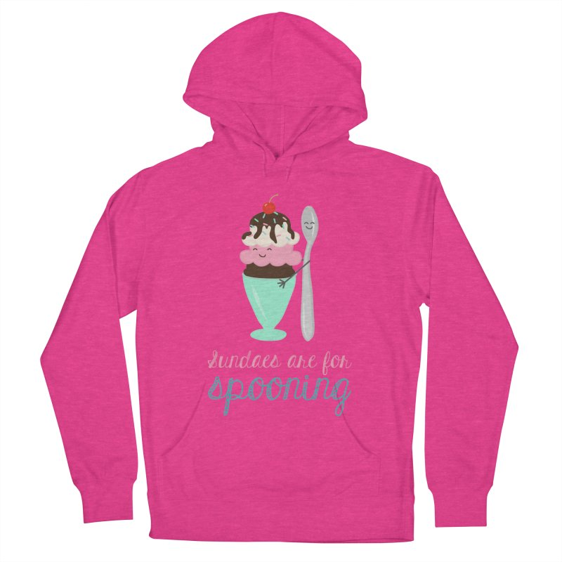 Sundaes are for Spooning Men's French Terry Pullover Hoody by CardyHarHar's Artist Shop
