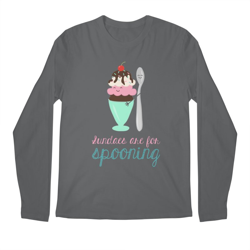 Sundaes are for Spooning Men's Regular Longsleeve T-Shirt by CardyHarHar's Artist Shop