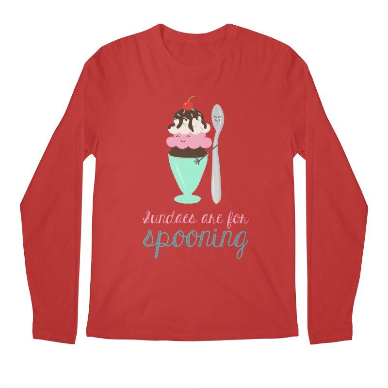 Sundaes are for Spooning Men's Regular Longsleeve T-Shirt by CardyHarHar's Artist Shop