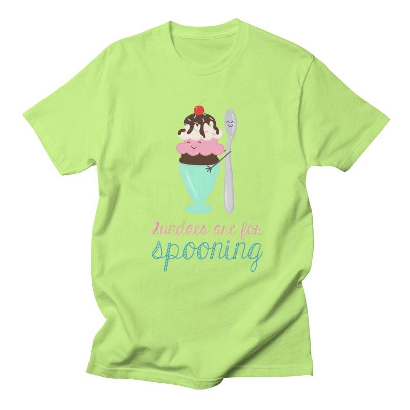 Sundaes are for Spooning Women's Regular Unisex T-Shirt by CardyHarHar's Artist Shop