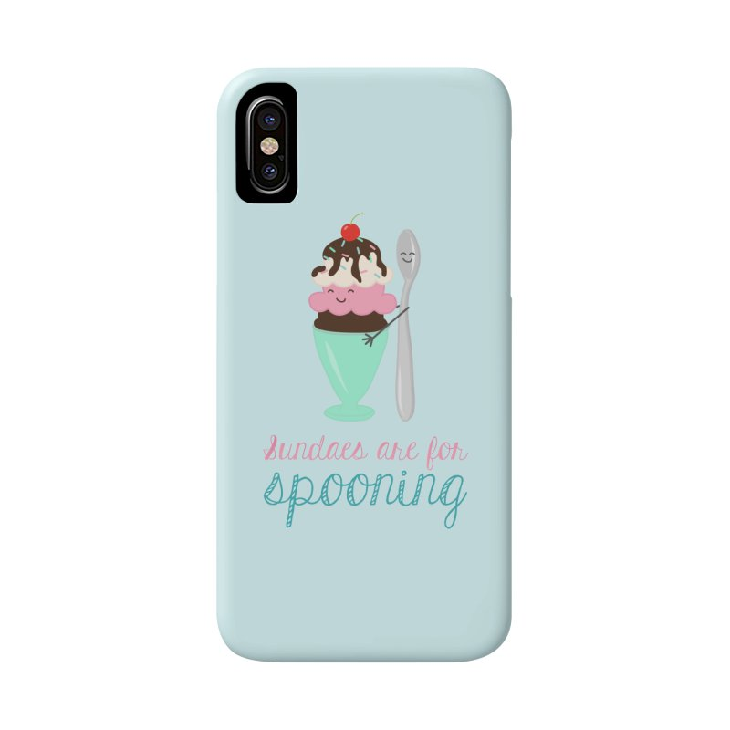 Sundaes are for Spooning Accessories Phone Case by CardyHarHar's Artist Shop