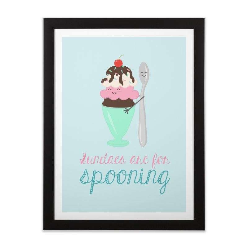 Sundaes are for Spooning Home Framed Fine Art Print by CardyHarHar's Artist Shop