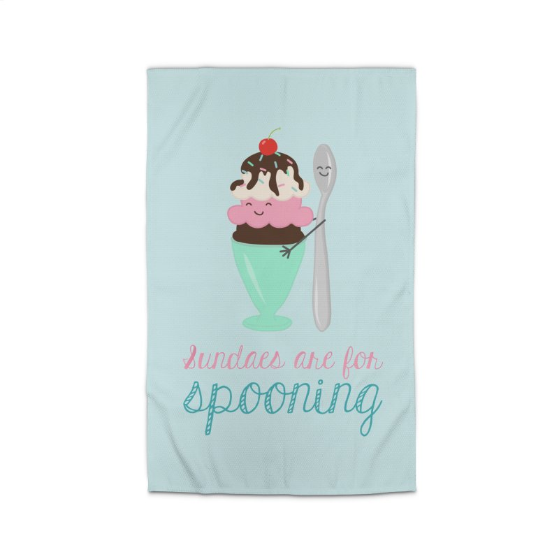Sundaes are for Spooning Home Rug by CardyHarHar's Artist Shop