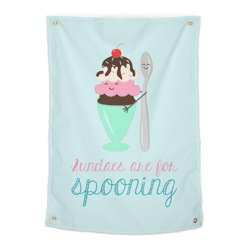 Sundaes are for Spooning Home Tapestry by CardyHarHar's Artist Shop